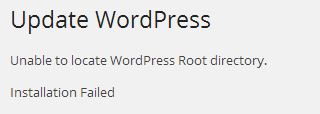 Wordpress - Unable to locate Wordpress Root directory
